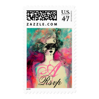 CHARM MONOGRAM ,Rsvp Postage Stamp