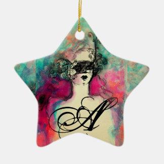 CHARM MONOGRAM,star Christmas Tree Ornaments