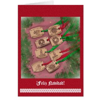 Charm Navidad nostálgico de Navidad Card