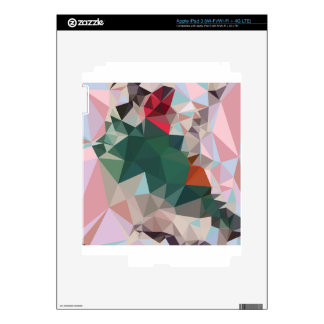 Charm Pink Abstract Low Polygon Background Skin For iPad 3