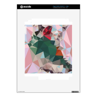 Charm Pink Abstract Low Polygon Background Skin For The iPad 2