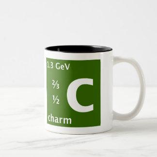 Charm quark (left handed) Two-Tone coffee mug