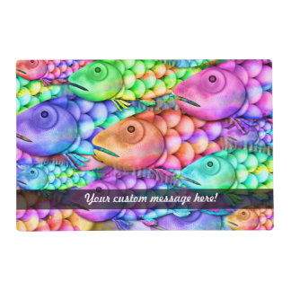 Charm School Colorful Rainbow Fish Collage Placemat