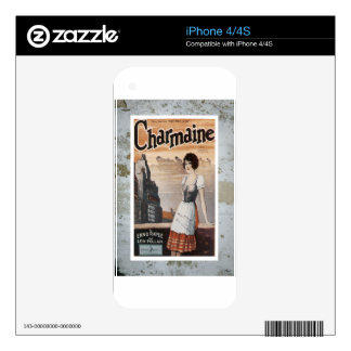 Charmaine Vintage Sheet Piano Music Skins For iPhone 4