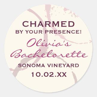 Charmed Favor Sticker | Burgundy Wine Theme