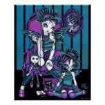 """Charmed"" Gothic Couture Magical Fairy Poster"