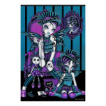 """""""Charmed"""" Gothic Couture Magical Fairy Poster"""