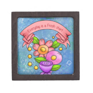 Charmed Positive Thought Doodle Flower Gift Box