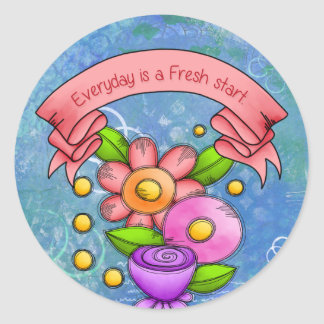 Charmed Positive Thought Doodle Flower Sticker