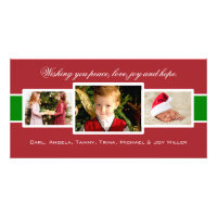 Charmed Trio Christmas Photo Card