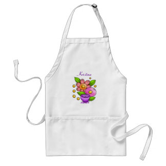 Charmed Watercolor Doodle Flower Apron