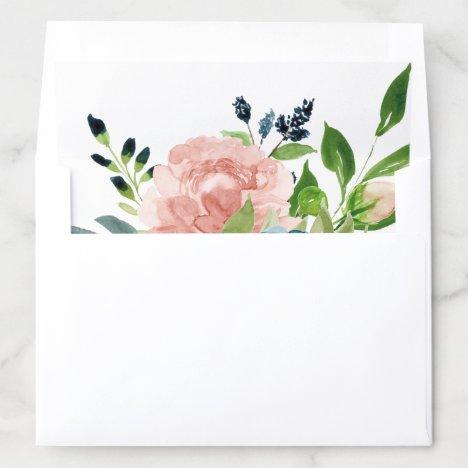 Charmed Watercolor Floral Bouquet Envelope Liner