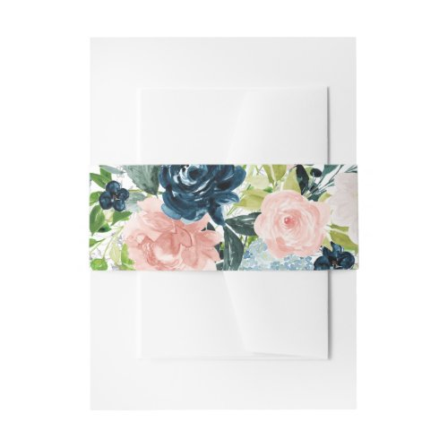 Charmed Watercolor Floral Bouquet Invitation Belly Band
