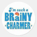 Charmer Brainy, Such A Classic Round Sticker