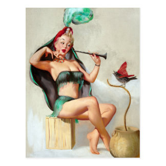 Charmer Pin Up Postcard