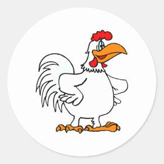 Charmichael Chicken Round Stickers
