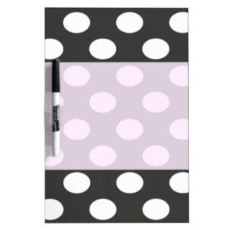 Charming adorable cheerful cute polka dots dry erase board