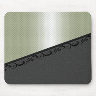 Charming adorable lace discrete stripes polka dots mouse pad