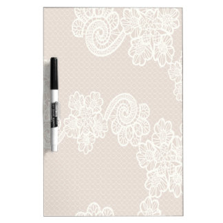Charming adorable vintage floral lace personalized Dry-Erase board