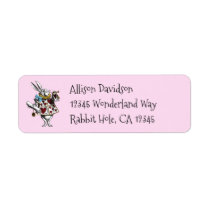 Charming Alice in Wonderland White Rabbit Label