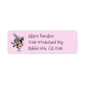Charming Alice in Wonderland White Rabbit Label