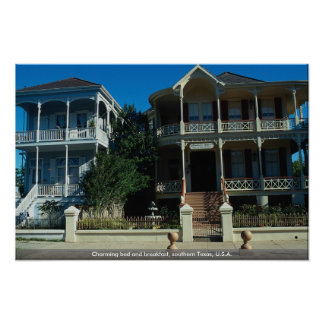Charming bed and breakfast, southern Texas, U.S.A. Poster
