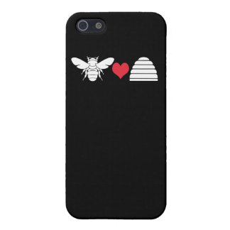 Charming Bee Heart Hive Logo Case For iPhone 5