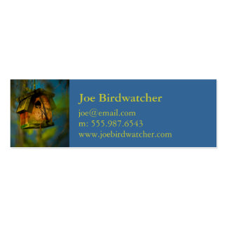 Charming Birdwatcher Bird House Double-Sided Mini Business Cards (Pack Of 20)