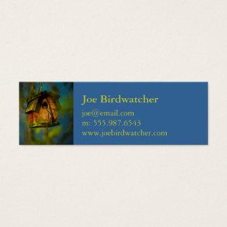 Charming Birdwatcher Bird House Mini Business Card