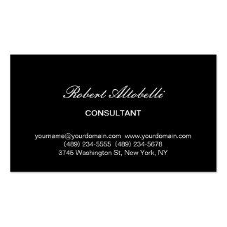 Charming Black White Script Business Card
