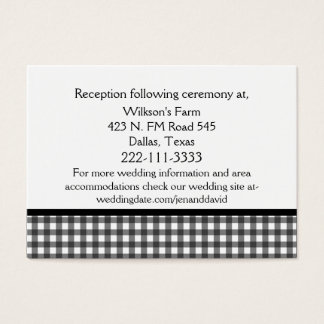 Charming Black & White Wedding Enclosure Card