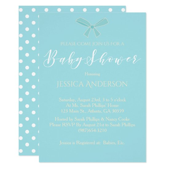 Charming Blue Boys Baby Shower Card