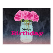 Charming Bouquet Postcard Birthday Greetings