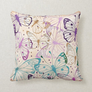 Charming Butterfly Pattern Throw Pillow