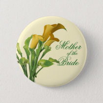 Charming Calla Lily Mother of the Bride Button