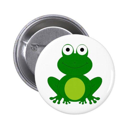 Charming cartoon frog button