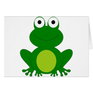 Charming cartoon frog greeting card