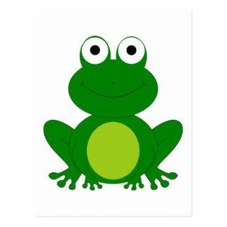 Charming cartoon frog postcard