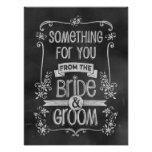 Charming Chalkboard Wedding Sign for Favor Table Poster