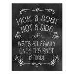 Charming Chalkboard Wedding Sign-Pick A Seat Poster