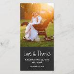 "Charming Chalkboard Wedding Thank You Photo Card<br><div class=""desc"">Charming Chalkboard Wedding Thank You Photo Card</div>"
