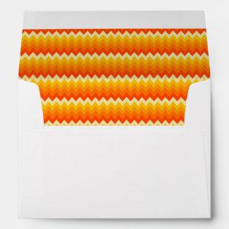 Charming Chevron Pattern Modern Envelope