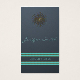 Charming chic attractive dandelion stripes business card