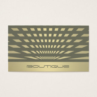 Charming chic contemporary geometrical golden look business card