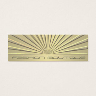 Charming chic contemporary geometrical golden look mini business card
