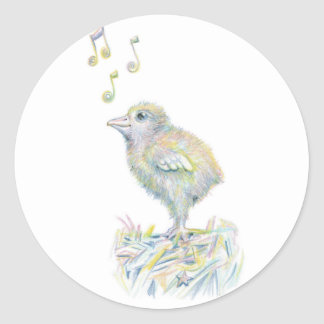 Charming Chick Classic Round Sticker