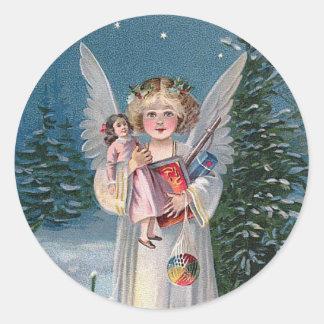 Charming Christ Child Classic Round Sticker
