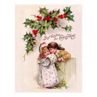 Charming Christmas Children Postcard
