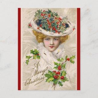 Charming Christmas Lady