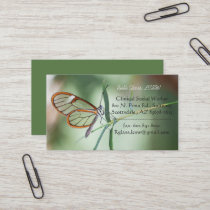 Charming Clear-wing Business Card